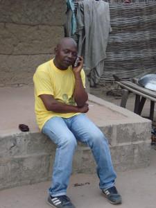 Lamine listening to his radio